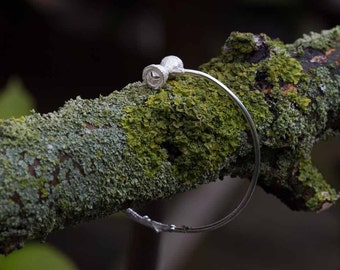 TWIG WITH EUCALYPTUS | Bangle in Sterling Silver (Free shipping)