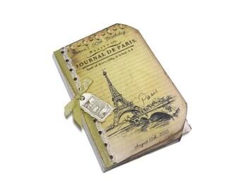 Paris Guest Book, Paris Journal, Personalized Guest Book, Bridal Shower, Birthday, Sweet 16, Quincieñera, Cottage Chic, French Guest Book