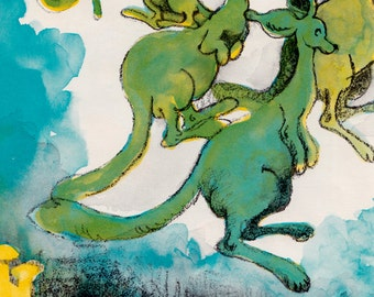 The One in the Middle is the Green Kangaroo by Judy Blume, illustrated by Lois Axeman