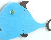 SALMON-ella #11, Reclaimed wood and rusty steel fish art, folk art, upcycled wood art, recycled wood fish, coastal home decor
