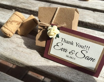 Vintage favor box, place card