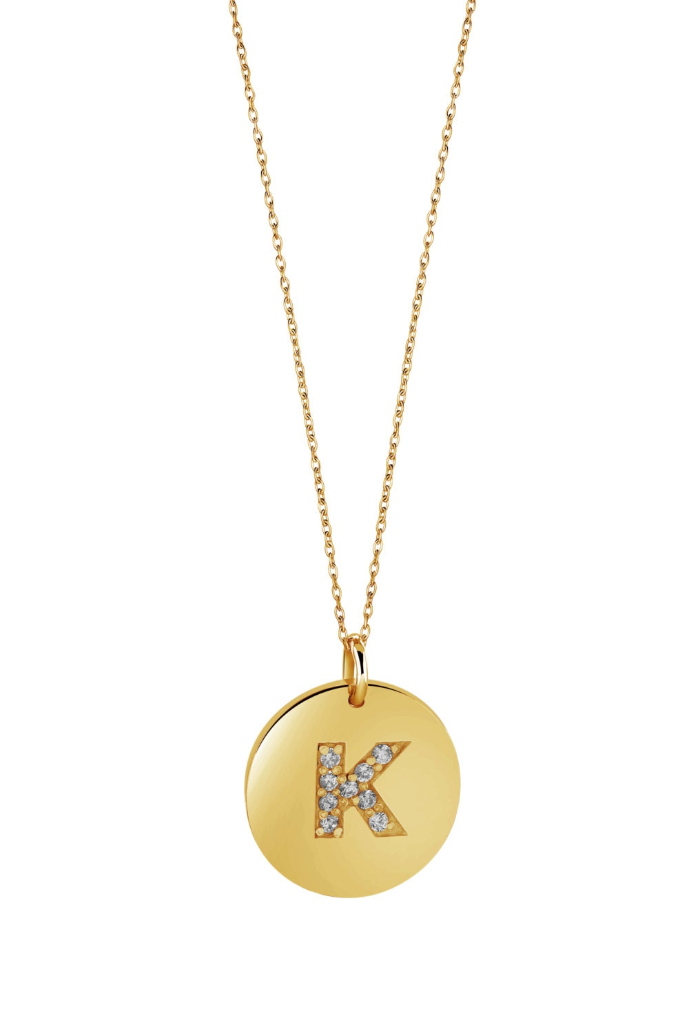 monogram necklace initial charm necklace initial by