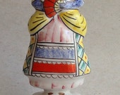 Vintage Russian majolica figurine - pretty damsel lady - classic - handpainted - former USSR - collectible