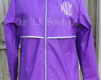 Women's Monogrammed Rain Jacket - Womens Rain Coat - Monogrammed Coat - Bridesmaids - Vacation - Gift - Rain - Monogram