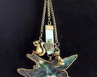 Forest Friends Adjustable Tri- Pendant Necklace