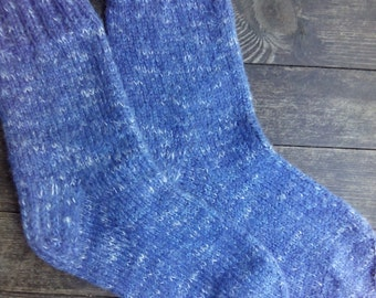 Hand Knit Wool Socks - Colorful Wool Socks for Men -Mens Socks -Size Medium US 9,5-10,EU43