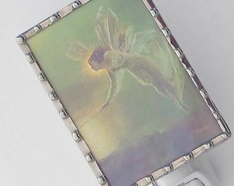 Fairy Night Light - Angel Nightlight Vintage Image - Green Night Light N72