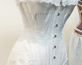 1903 Edwardian s-curve corset in the Gibson Girl style (reproduction)