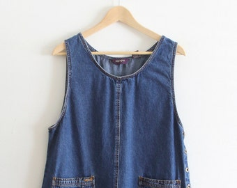 Vintage Denim Sleeveless Dress