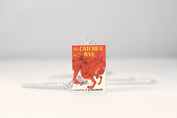 The Catcher in the Rye Book Necklace -  Book Jewelry, Doll House Miniatures, Geek Gift
