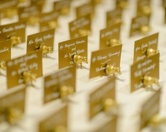 Wedding Place Cards, Wedding Escort Cards, Gold Glitter Escort Cards, Gold Glitter Wedding Place Cards