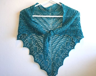 something blue lace knit wedding shawl - bridesmaid gift - wedding accessories - lace wedding dress topper - wedding wrap - glam shells