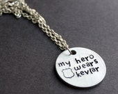 Kevlar Necklace, My Hero Wears Kevlar, Police Officer Jewelry, Police Wives, Cop Wife Sherrif Support, Police Daughter Mother Thin Blue Line