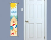 ON SALE Personalized Growth Chart - Beach Growth Chart - Kids Growth Chart - Baby Gift - Seashell Growth Chart - Kids Gift Idea - Growth Cha