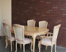 Country French Dining Set / Dining Table / French Provincial Dining Set by Century Furniture