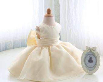 Baby first communion dress, Baptism Dress, Christening Dress, Infant Pageant Dress, Birthday Dress for Girls, PD076-2