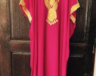 Jewel Embroidered Caftan evening dress moroccan kaftan
