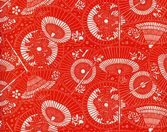 Japanese PAPER, Japanese Print Paper, Japanese Gift Wrap, Asian Gift Wrap, Asian Collage Paper, Red White Paper, Red Asian Paper