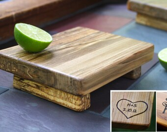 Cutting Board Personalized- Unique Wedding Gift- 5th Anniversary Gift- Wood Cutting Boards- Hand Engraving- Monogram Cutting Board