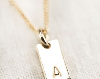 Kanae necklace - gold initial necklace, gold bar necklace, personalized gold necklace, personalized jewelry, gold name necklace, maui hawaii