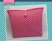 Pink Retro Dot Planner Sleeve (3 sizes)