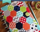 Discbound Planner Cover (Hexagon Multi Pattern)