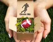 Crush Me! Football Pregnancy Announcement - Gender Reveal - Baby Shower Invitation - Custom Personalized - Husband - Easter Egg Reveal