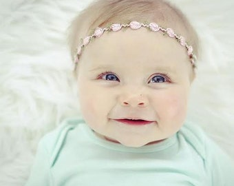 Baby Headband, Baby Halo, Newborn, Baby Headbands, Baby Halo Headband, Infant Headband, Newborn Halo, Baby Headband, Halo, Flower Headband