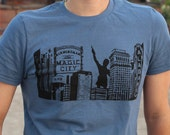 BLUE, LARGE- This is Birmingham T-Shirt