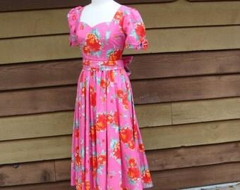 80's Laura Ashley Cotton Dress