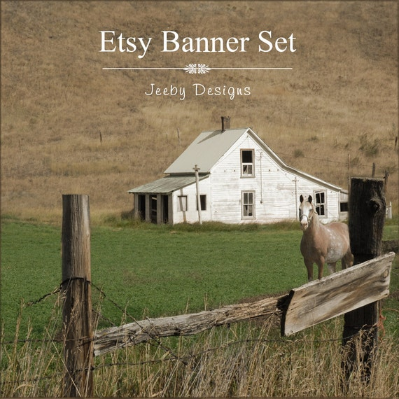 50 Farmhouse Style Gift Ideas From Etsy: Items Similar To Etsy Banner Set