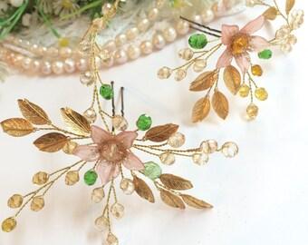 Bridal hair accessories, vintage inspired bridal hair pins, bridal headpiece, bridal jewelry, hair jewelry for wedding, bridal hair jewelry