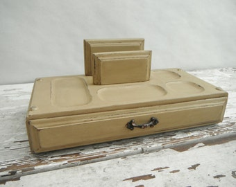 Painted Vintage Valet. In Olive Beige