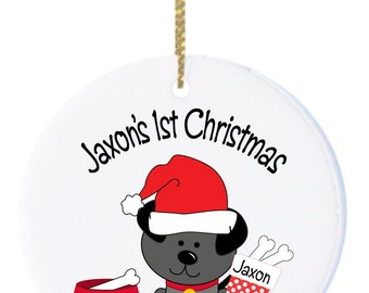 Personalized Christmas Ornaments Dog 1st Christmas Ornament