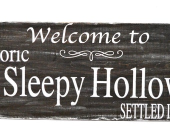 Sleepy Hollow Halloween sign