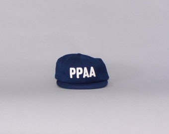 Vintage 60s PPAA Wool Wilson Baseball HAT / 1960s Embroidered Portland Police Athletic Association Cap