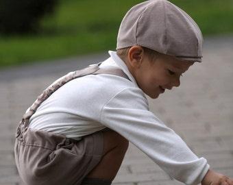 Boys flat hat Newsboy hat Infant boy flat hat Ring bearer hat Newsboy Cap Photo prop Toddler hat Velvet hat Autumn hat