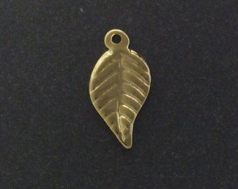 30pcs- Gold filled charms Leaf 15mm bulk- gold pendant charms leaf- supply jewelry charms leaf- 15%Discount price bulk quantity gold charms