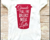 Breastmilk Latte Glitter Short Sleeve Onesie - Breastmilk Latte Shirt - Glitter Breastmilk Latte - Baby Glitter Onesie - Breastmilk Onesie