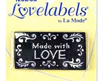 IRON ON Personalised Garment LABELS - 4 designs, for your handmade clothes and gifts - pack of 4 (2nd listing) - Free Worldwide Postage