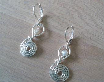 Wire Note Earrings