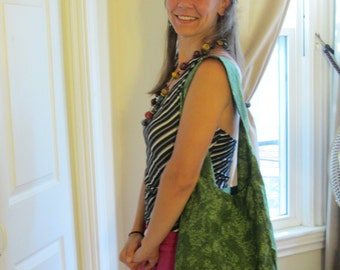 Slouchy Green Hobo Bag