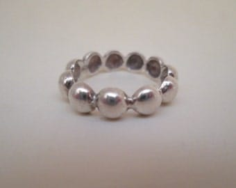 Silver Bauble Ring