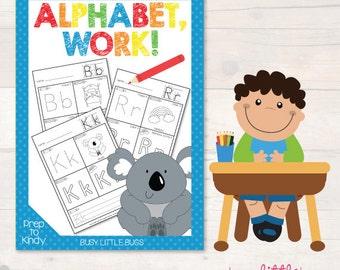 Alphabet Work! Alphabet worksheets - AUTOMATIC DOWNLOAD