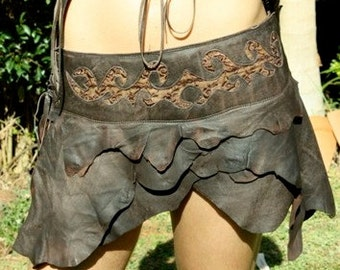 Divine Diva leather lace skirt