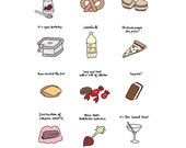 Foods of The Office - Hand-Illustrated