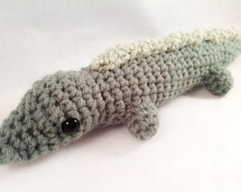 Crochet Amigurumi Alligator Plush Stuffed Animal Toy