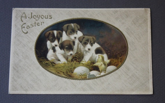 "JB & Co Printed in Germany Antique ""A Joyous Easter"" Postcard"