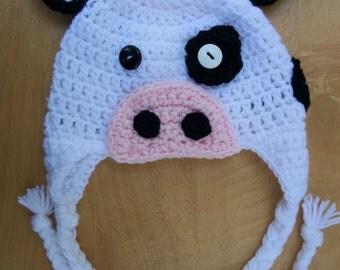 Cow Earflap Hat