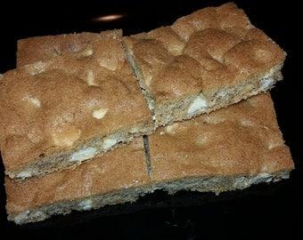 White Chocolate Cinnamon Cookie Bars - 1 Tray